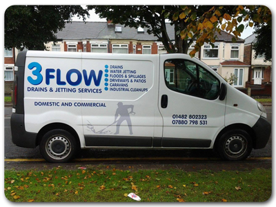 3 Flow Jet Washing services for Hull and the surrounding areas